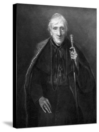 John Henry Newman in Old Age, British Scholar and Theologian, C1885--Stretched Canvas Print