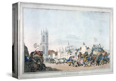 The Overdrove Ox, 1790-Thomas Rowlandson-Stretched Canvas Print