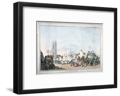 The Overdrove Ox, 1790-Thomas Rowlandson-Framed Giclee Print