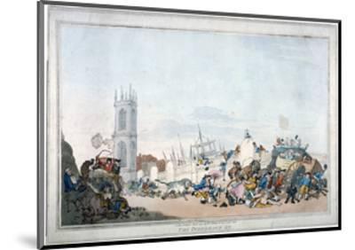 The Overdrove Ox, 1790-Thomas Rowlandson-Mounted Giclee Print