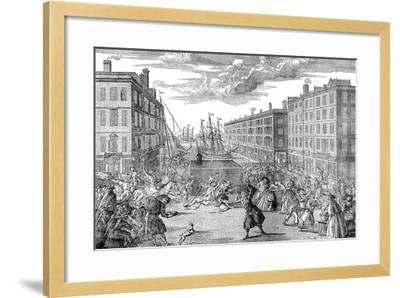 The View and Humours of Billingsgate,1736--Framed Giclee Print