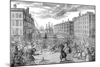 The View and Humours of Billingsgate,1736--Mounted Giclee Print