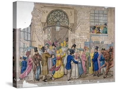 The Moving Panorama, or Spring Garden Rout..., 1823--Stretched Canvas Print