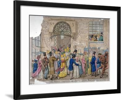 The Moving Panorama, or Spring Garden Rout..., 1823--Framed Giclee Print