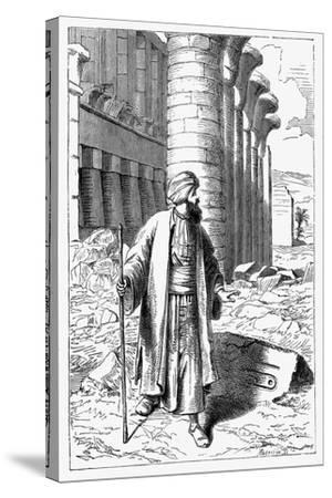 Giovanni Battista Belzoni, Italian Explorer and Antiquity Seeker, C1860--Stretched Canvas Print
