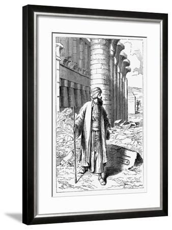 Giovanni Battista Belzoni, Italian Explorer and Antiquity Seeker, C1860--Framed Giclee Print