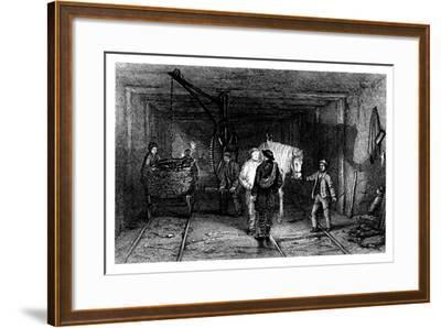 Underground Scene in a Coal Mine, 1860--Framed Giclee Print