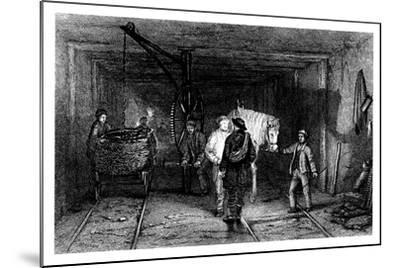 Underground Scene in a Coal Mine, 1860--Mounted Giclee Print