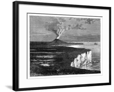 A Shield Volcano on Reunion Island, Indian Ocean, C1890--Framed Giclee Print