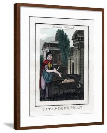 Cat's and Dog's Meat!, Bethlem Hospital, London, 1805--Framed Giclee Print