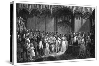 The Marriage of Queen Victoria and Prince Albert, 1840-George Hayter-Stretched Canvas Print