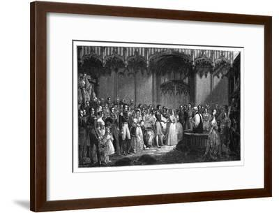 The Marriage of Queen Victoria and Prince Albert, 1840-George Hayter-Framed Giclee Print