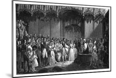 The Marriage of Queen Victoria and Prince Albert, 1840-George Hayter-Mounted Giclee Print