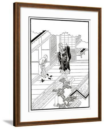 Sesshiu and the Pictured Rats, 18th Century-Nishikawa Sukenobu-Framed Giclee Print