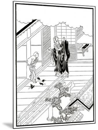 Sesshiu and the Pictured Rats, 18th Century-Nishikawa Sukenobu-Mounted Giclee Print