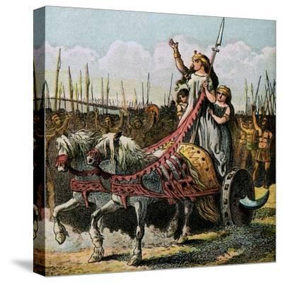 Boadicea and Her Army--Stretched Canvas Print