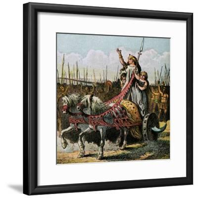 Boadicea and Her Army--Framed Giclee Print