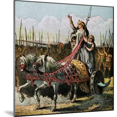 Boadicea and Her Army--Mounted Giclee Print