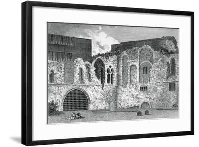 Ruins of the South Transept, Church of St Bartholomew-The-Great, Smithfield, City of London, 1800--Framed Giclee Print