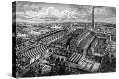 Camperdown Linen Works, Dundee, C1880--Stretched Canvas Print
