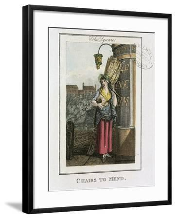 Chairs to Mend, Cries of London, 1804-William Marshall Craig-Framed Giclee Print