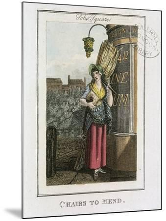 Chairs to Mend, Cries of London, 1804-William Marshall Craig-Mounted Giclee Print