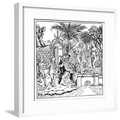 Adam and Eve, 1493--Framed Giclee Print