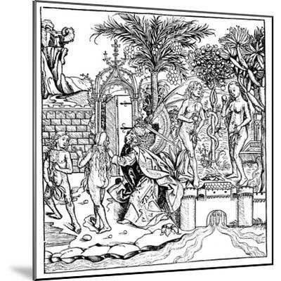 Adam and Eve, 1493--Mounted Giclee Print