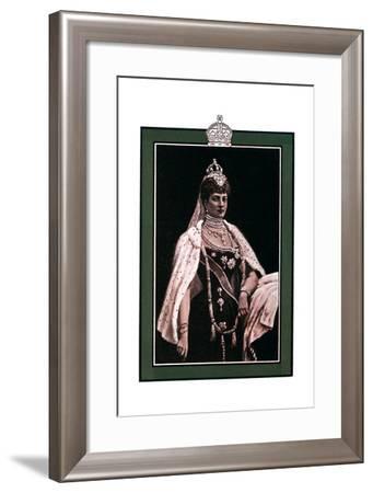 Alexandra of Denmark (1844-192), Queen Consort to King Edward VII, 1902-1903-W Waud-Framed Giclee Print