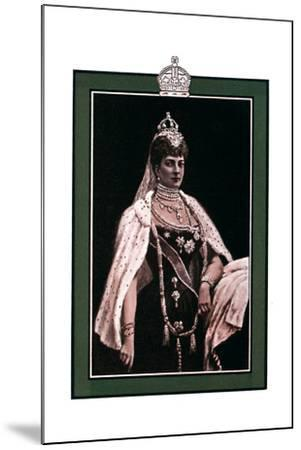 Alexandra of Denmark (1844-192), Queen Consort to King Edward VII, 1902-1903-W Waud-Mounted Giclee Print