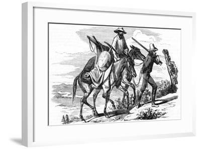 Prospectors on their Way to the Californian Gold Fields, 1853--Framed Giclee Print