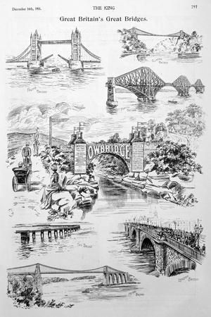 Great Britain's Great Bridges, Advert for Owbridge Lung Tonic, 1901--Stretched Canvas Print