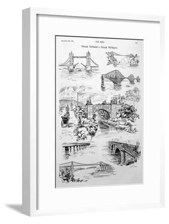 Great Britain's Great Bridges, Advert for Owbridge Lung Tonic, 1901--Framed Giclee Print