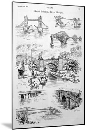Great Britain's Great Bridges, Advert for Owbridge Lung Tonic, 1901--Mounted Giclee Print