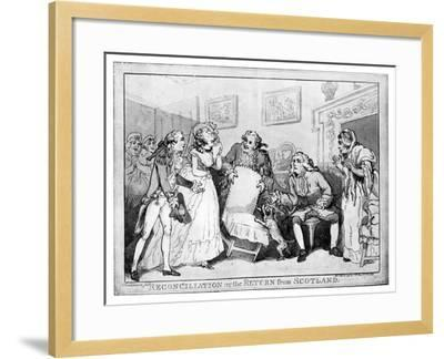 Reconciliation or the Return from Scotland, Late 18th Century-Thomas Rowlandson-Framed Giclee Print