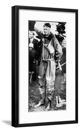 Charles Lindburgh, Record Breaking Aviator, 1927--Framed Giclee Print
