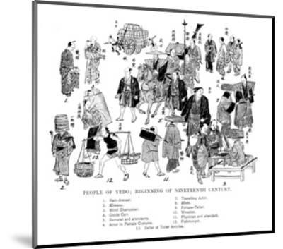 People of Edo, Japan, C1800--Mounted Giclee Print