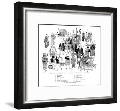 People of Edo, Japan, C1800--Framed Giclee Print