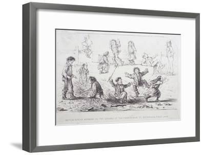 Field Lane Ragged School, London, 1853-William Dickes-Framed Giclee Print
