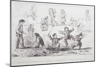 Field Lane Ragged School, London, 1853-William Dickes-Mounted Giclee Print