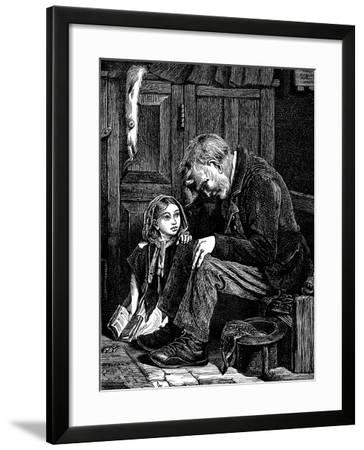 Man at Church Sitting in 'Free' Seat, London, 1872-John Emms-Framed Giclee Print