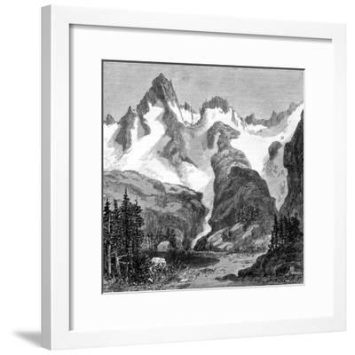 Rush Creek Glacier, on the Eastern Slopes of the Sierra Nevada, California, USA, 1875--Framed Giclee Print