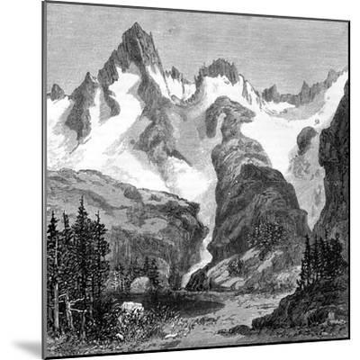 Rush Creek Glacier, on the Eastern Slopes of the Sierra Nevada, California, USA, 1875--Mounted Giclee Print
