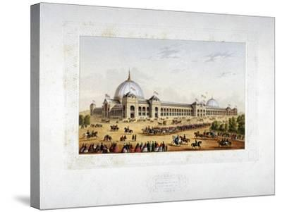 Site of the 1862 International Exhibition, Cromwell Road, Kensigton, London, 1862--Stretched Canvas Print