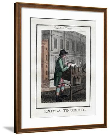 Knives to Grind, Whitehall, London, 1805--Framed Giclee Print