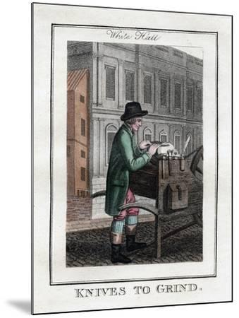 Knives to Grind, Whitehall, London, 1805--Mounted Giclee Print