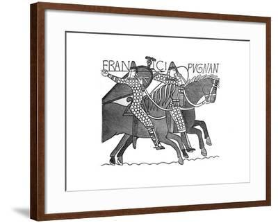 Norman Knights, Bayeux Tapestry, C1070s--Framed Giclee Print