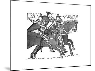Norman Knights, Bayeux Tapestry, C1070s--Mounted Giclee Print