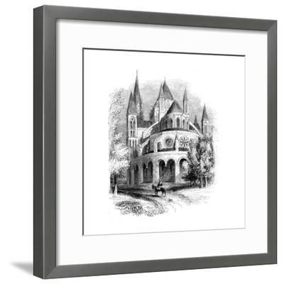 Abbaye Aux Hommes, Caen, Normandy, France--Framed Giclee Print