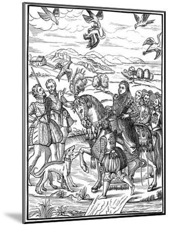 Queen Elizabeth I and Her Attendants Out Hawking, 1575--Mounted Giclee Print